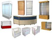 Прилавки и витрины для магазинов и аптек.