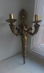 бронзовые бра и бронзовые хрустальные люстры