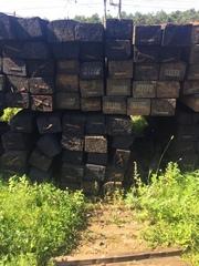 Шпалы старогоднии пропитанные деревянные